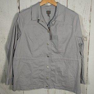 MIX 41 Hawthorn Gray Canvas Utility Jacket 2X NEW